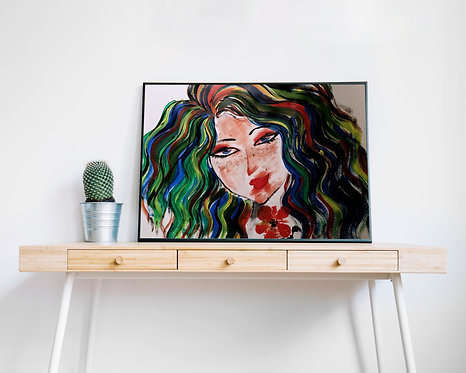 Woman With Visions : Giclée Fine Art Print or Gallery Wrap