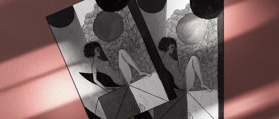 Tricky Mind BNW : Giclée Fine Art Print or Gallery Wrap