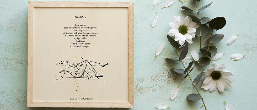 poetry art print on handmade paper
