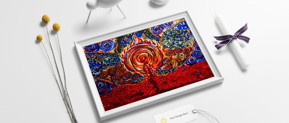 Sacred Blood : Acrylic Original Artwork