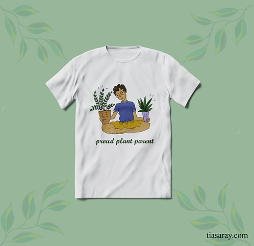 """Artsy """"Plant Parent"""" Unisex Cotton T-shirt"""