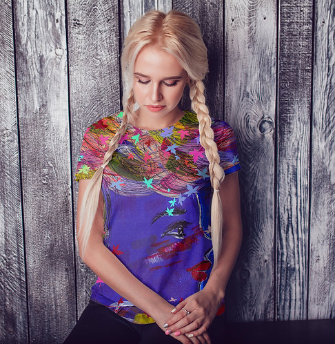 Artsy All Over Printed Women's T-shirt