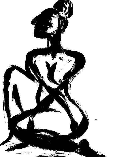 Woman Original Art : Framed