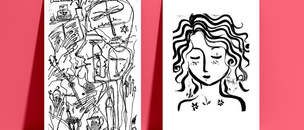 Combo : Giclée Fine Art Print or Gallery Wrap