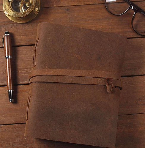 Leather Vintage Journal : Handwritten poems with sketches