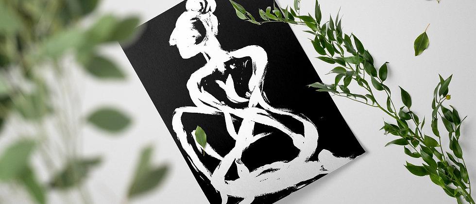 Woman Awaiting : Giclée Fine Art Print or Gallery Wrap