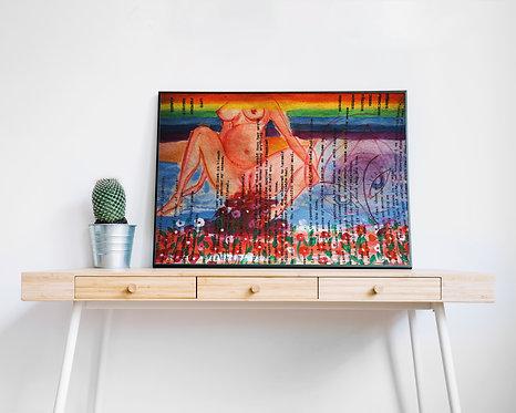 Motherhood : Original Acrylic Artwork by Tiasa Ray
