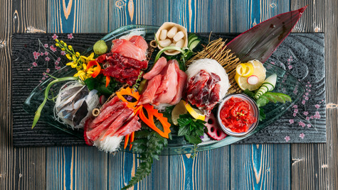 Sliced Raw Tuna