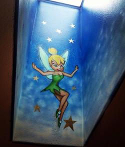 Tinkerbell Mural in Skylight