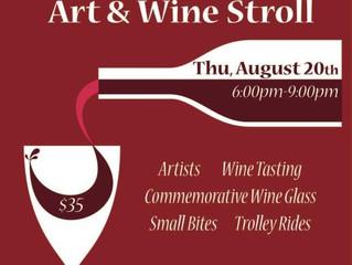 Art and Wine Stroll in Danville!