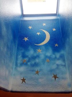 Starry Sky Mural in Skylight