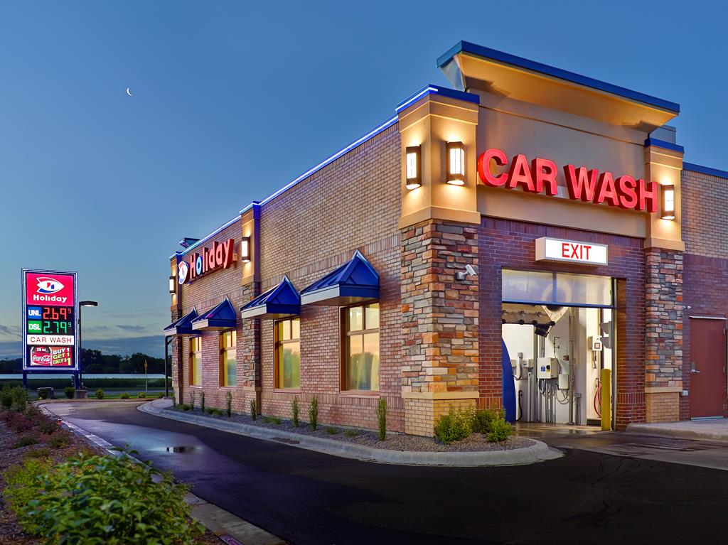 Newly constructed car wash
