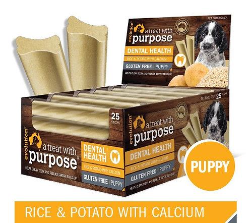 Evolution Dental Stick - Rice & Potato w/ Calcium (Puppy).....from