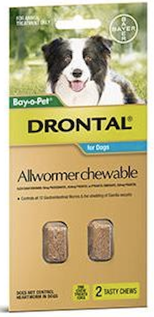 Drontal Dog 10kg Chewables.....from