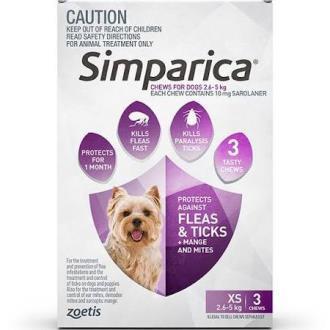 Simparica Purple 2.6-5kg 3pk