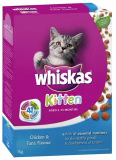 Whiskas Dry Cat Food 1kg - Various Flavours