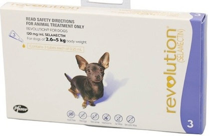 Revolution Dog Purple (2.6-5kg).....from
