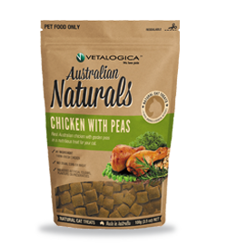 Vetalogica Australian Naturals Cat Treats Chicken With Peas