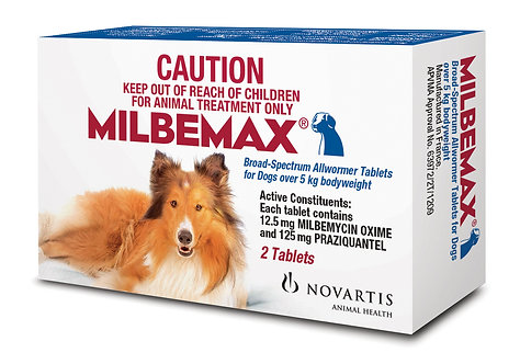 Milbemax Allwormer for Dogs 5kg & Over