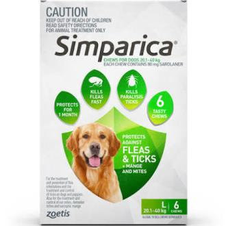 Simparica Green 20.1-40kg.....from
