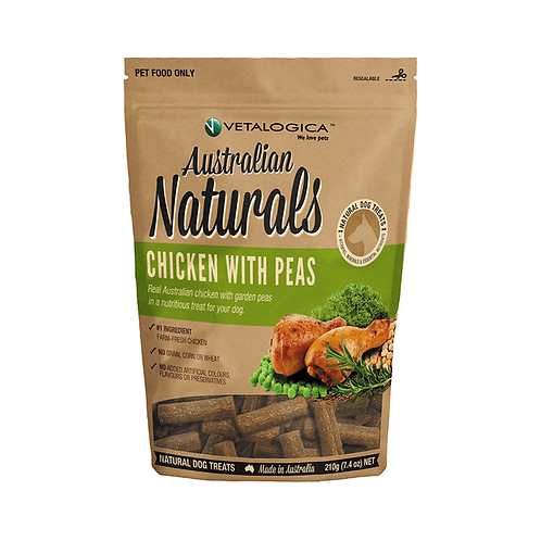 Vetalogica Australian Naturals Dog Treats Chicken With Peas