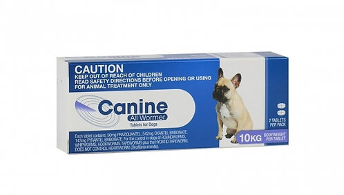 Valueplus Canine Allwormer 10kg.....from