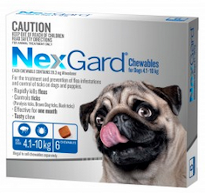 Nexgard Medium Dog 4.1-10kg.....from