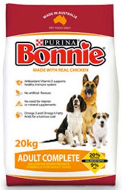 Bonnie Dry Food 20kg - Various
