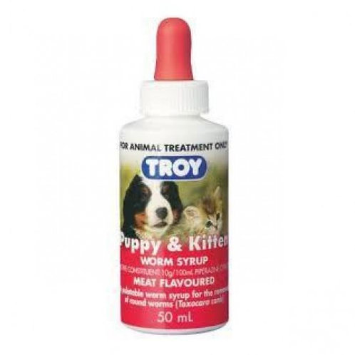 Troy Puppy & Kitten Wormer 50ml