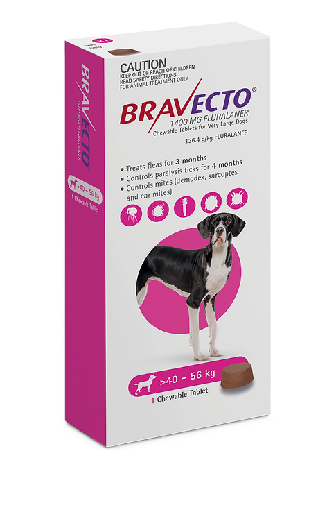 Bravecto Chewable for Dogs 40-56kg - 1 Tab