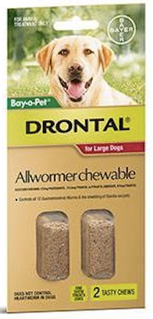Drontal Dog 35kg Chewables - 2 Tab