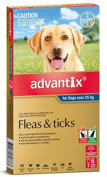 Advantix Ex Large Dog (Over 25kg).....from