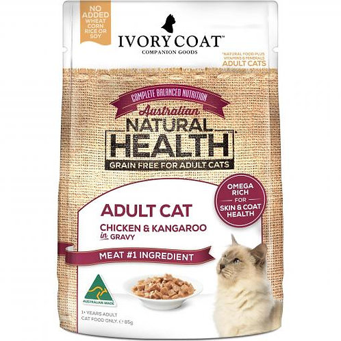 Ivory Coat Adult Chicken & Roo in Gravy 85g