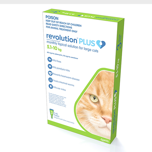 Revolution PLUS Large Cats 5-10kg.....from