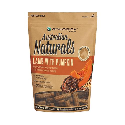Vetalogica Australian Naturals Dog Treats Lamb With Pumpkin
