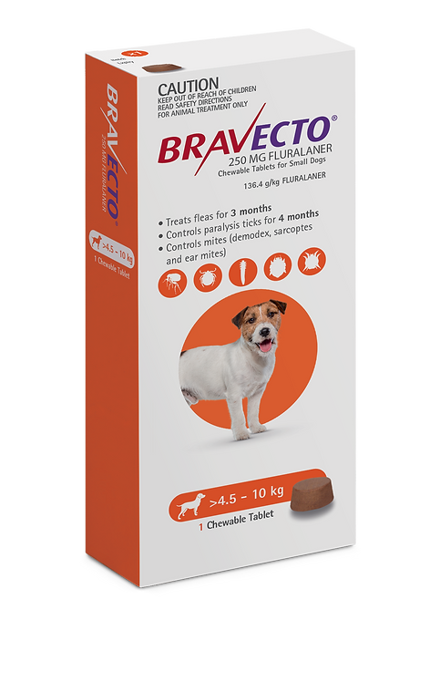 Bravecto Chewable for Dogs 4.5-10kg - 1 Tab
