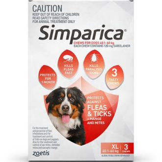 Simparica Red 40.1-60kg.....from