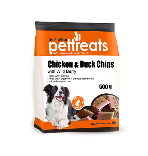 Chicken & Duck Chips w/ Wild Berry.....from