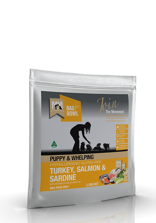 Meals for Mutts Puppy Turkey, Salmon & Sardine.....from