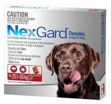Nexgard X-Large Dog (25.1 - 50kg).....from