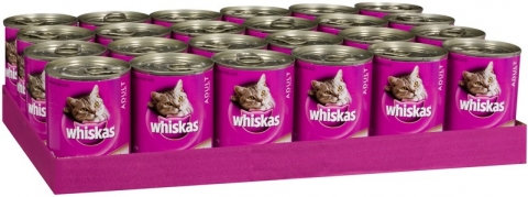 Whiskas Rural Mixed 400g x 24 Cans