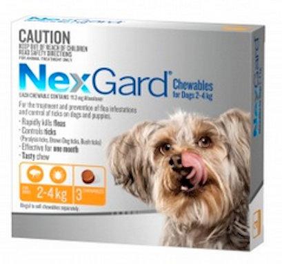 Nexgard Small Dog 2-4kg.....from