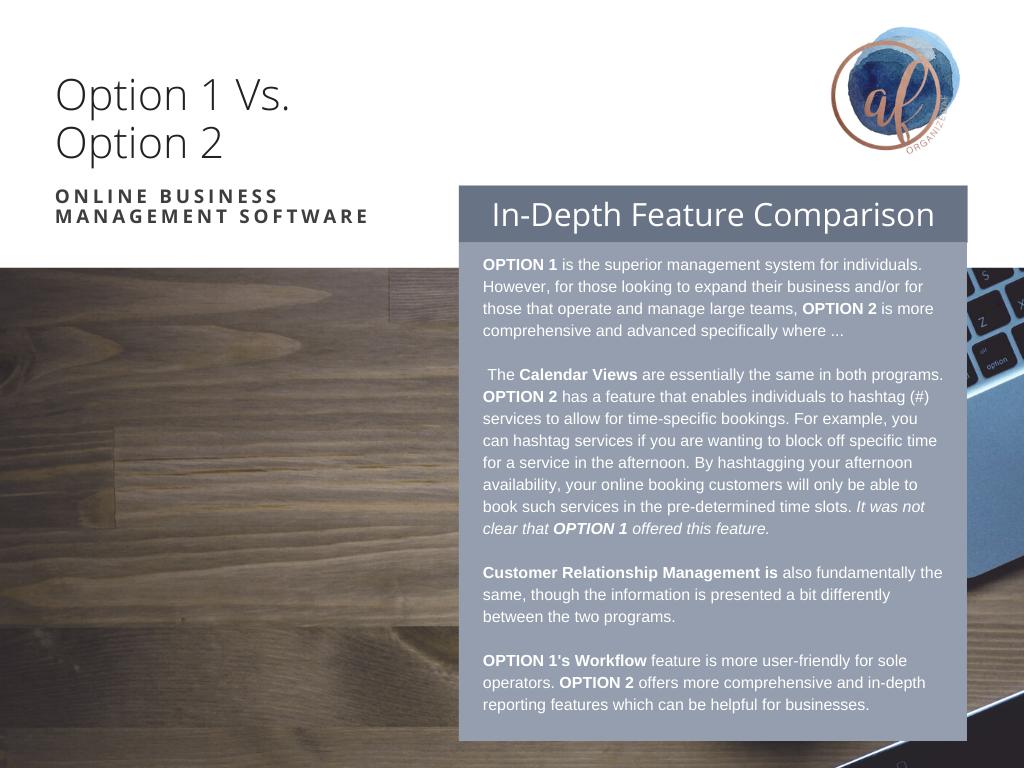 3Software Comparison / Research
