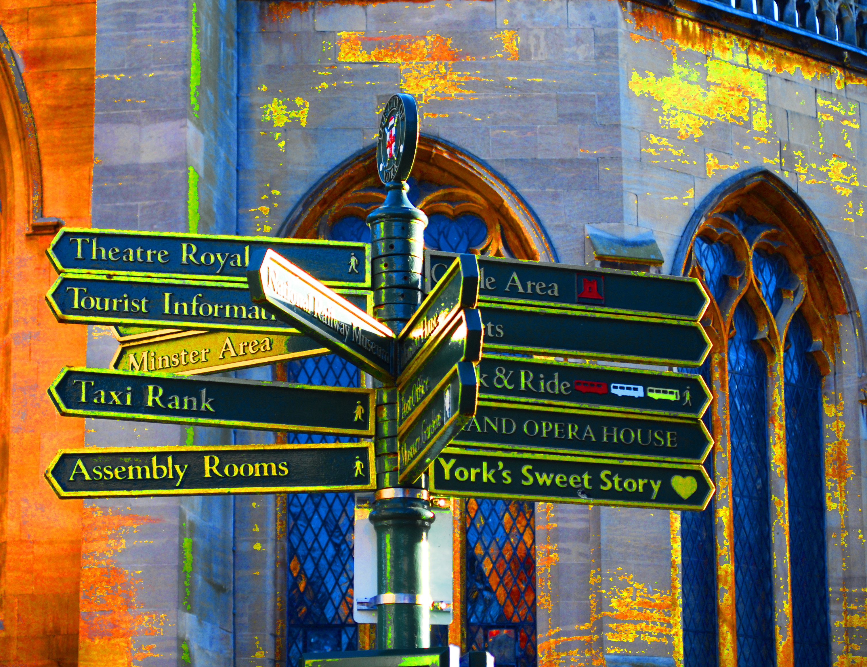 York City Centre Sign