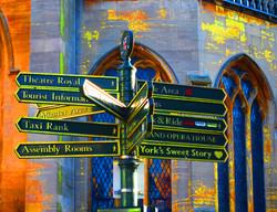 York City Centre Sign