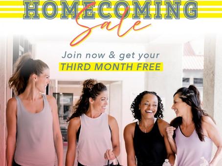 Homecoming Sale