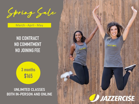 20% off Unlimited Jazzercise Classes