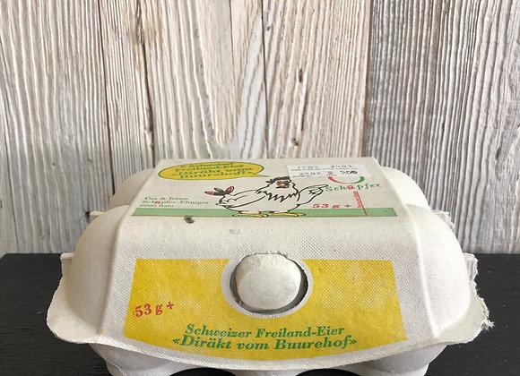 Eier 6 Stück vom Bauernhof