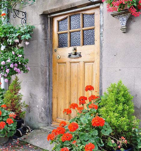 Front Door of a Beautiful Old English Co