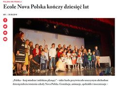 Ecole Nova Polska kończy dziesięć lat